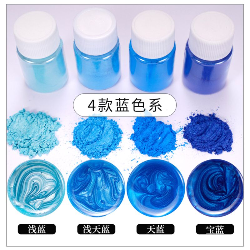 20 Pearlescent Powder Epoxy Resin Dye Pearl Pigment Natural Mica Mineral Powder 72XF