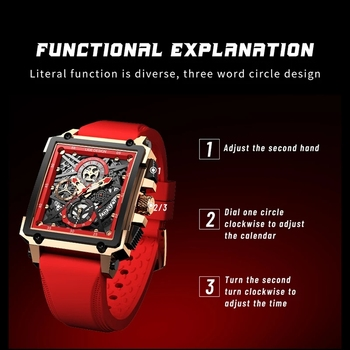 LIGE 2021 Men Watch Top Brand Luxury Waterproof Quartz Square Wrist Watches for Men Date Sports Silicone Clock Male Montre Homme 5
