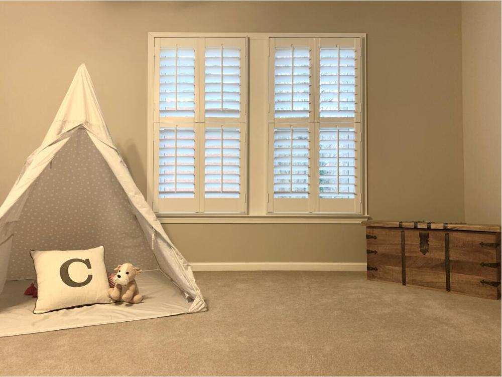Custom Basswood Plantation Shutters  Wooden Blinds Solid Wood Shutter Louver PS214