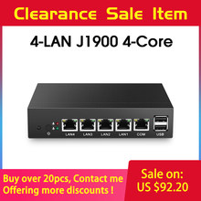 Mini PC sin ventilador pFsense Celeron J1900 Quad Core LAN de 4 Gigabit Firewall Router Windows 10 delgada cliente RJ45 VGA mini computadora(China)