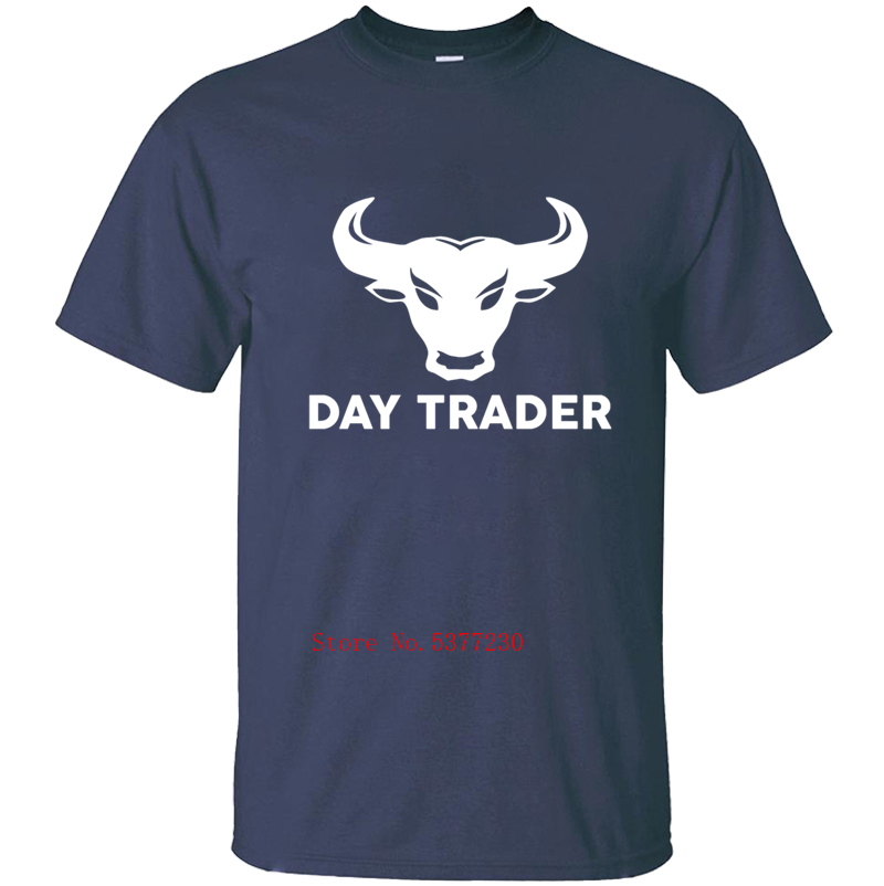 Day Trading Stock Market Bull Bear Gift Money T-Shirt For Men Men's T Shirt Tee Shirt Man Streetwear Cotton Fitness Design Tops image