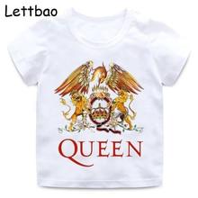 FREDDIE MERCURY/футболка с принтом рок-группы для мальчиков и девочек детская белая футболка с героями мультфильмов Детская летняя забавная повседневная одежда в стиле Харадзюку