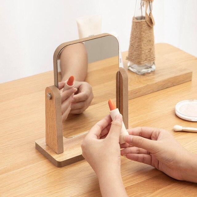 Portable Spin Assembly Makeup Mirror Screen Vanity Mirror Single Mirrors Desk Cheap Mirror Gift Cosmetic Espelho de maquiagem 3