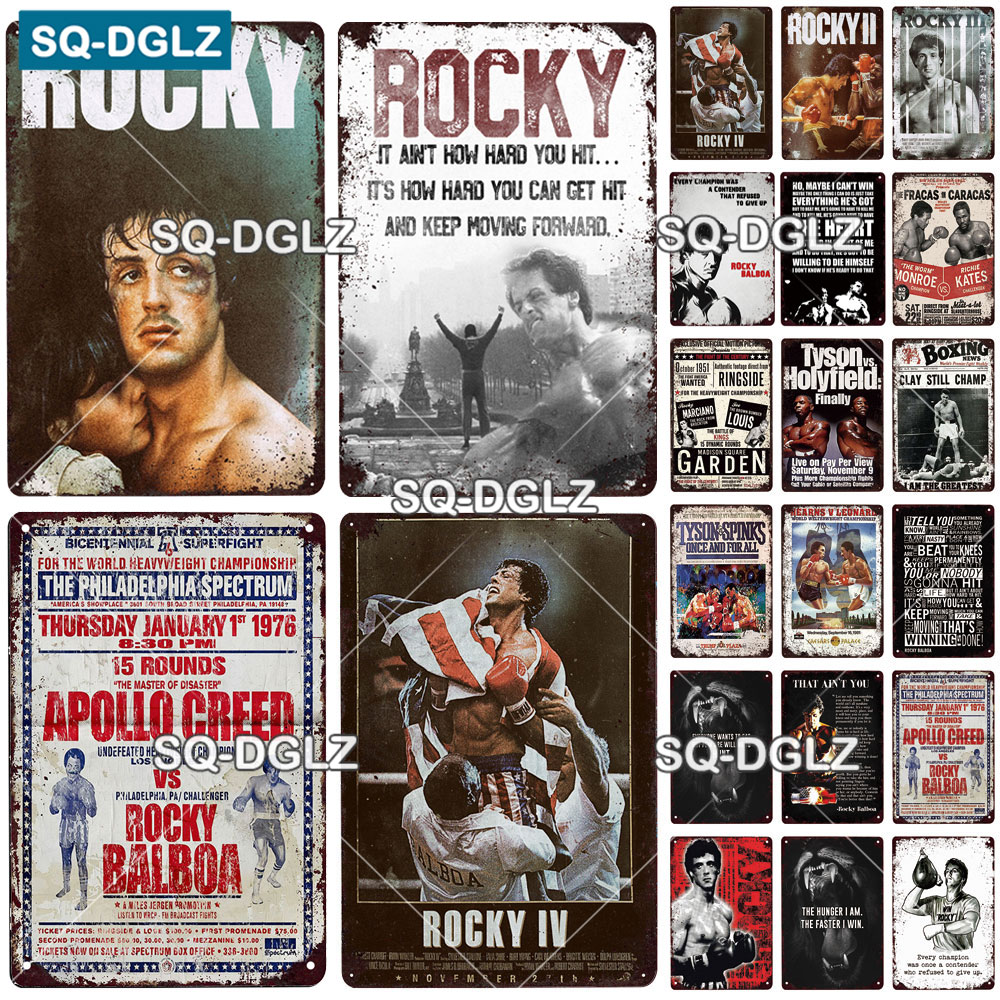 Tin-Signs Rocky-Poster Plaque-Plate Boxing Health-Wall-Decor Metal Vintage Sport Club