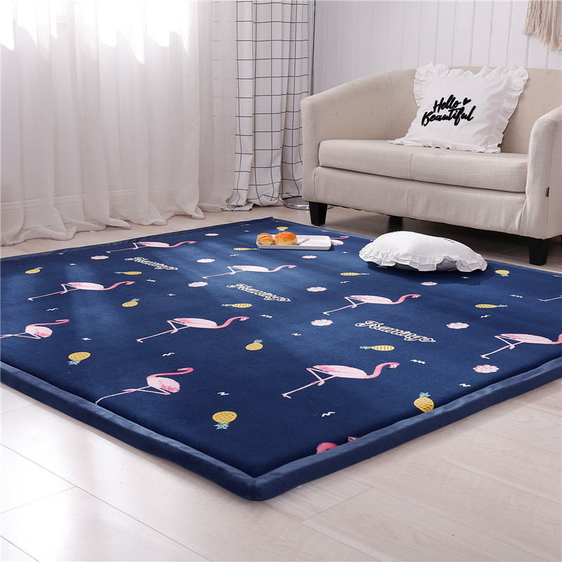 2cm Thick Baby Crawling  Mat Tatami Coral Fleece Velvet  Kid  Play Mat Infant Living Room Blanket Kid Toddler Crawl Playmat