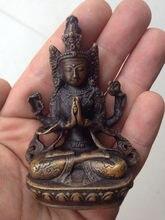 Antiguo avalokitesvara buda bodhisattva buda estatua decoração de metal