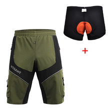 SANTIC cycling shorts bermuda ciclismo mountain bike mens bicycle with 3D Gel Padded Detachable Underwear