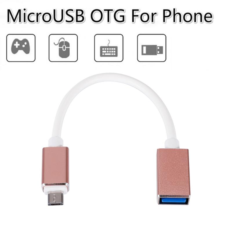 Aluminum Alloy Metal Audio Cable Converter Micro/ Type-C OTG Mobile Phone Extension Cable USB U Disk Converter OTG Adapter Cable