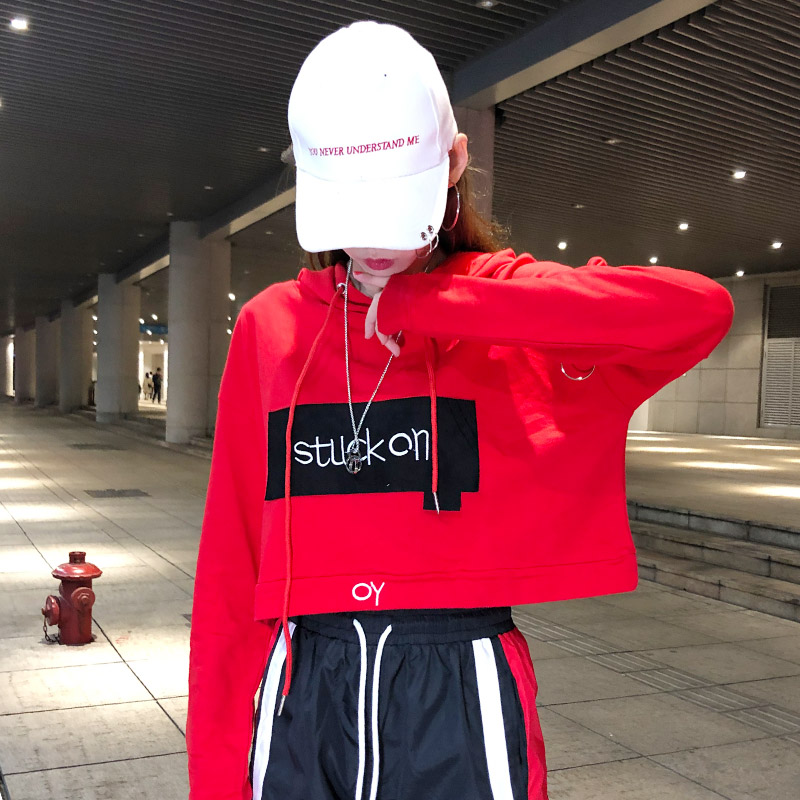 Tide brand suit chandal mujer 2 piezas female autumn Korean street dance hip hop leisure bf sports net red two-piece set women 27