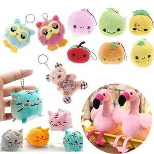 Keychain-Ring Peach Plush-Toy Valentine Pendant Stuffed Mini Cute Fruit Soft Gifts Playmate