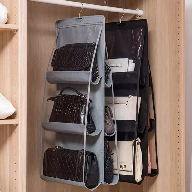8 Pocket Foldable Hanging Bag 4 Layer Storage Holder Wardrobe Sundry Bag With Hanger Pouch Closet Organizer