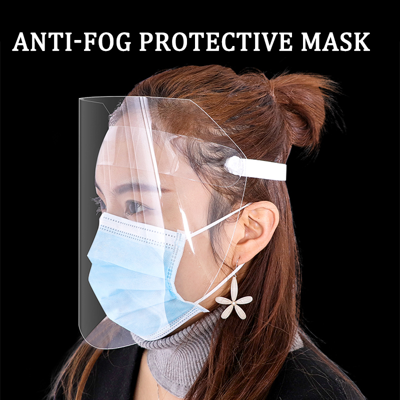 Ffp Protective Adjustable Anti Droplet Dust-proof Full Face Cover Mask Visor Shield Droplet Virus Windproof Face Shield Washable