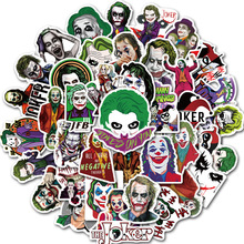 50Pcs The Joker Anime Stickers Cartoon Movie Clown Style Sticker for Laptop Refrigerator Office Guitar Skateboard PVC Waterproof
