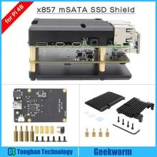 라즈베리 파이 4 mSATA SSD 스토리지 확장 보드 X857 USB3.1 Shield for Raspberry Pi 4B