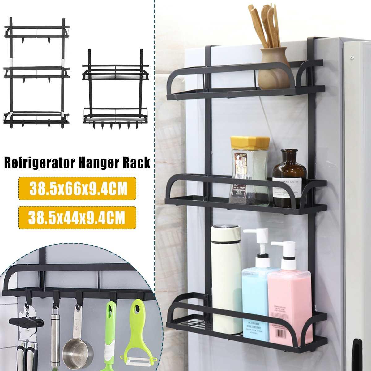 Estante lateral para refrigerador adsorción, soporte de almacenamiento de cocina multifunción montado en la pared, estante organizador para toallas de papel