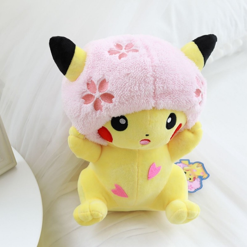 takara-tomy-font-b-pokemon-b-font-cherry-blossoms-pikachu-plush-toy-doll-stuffed-kawaii-gift-for-girl-friend-hobby-collectible