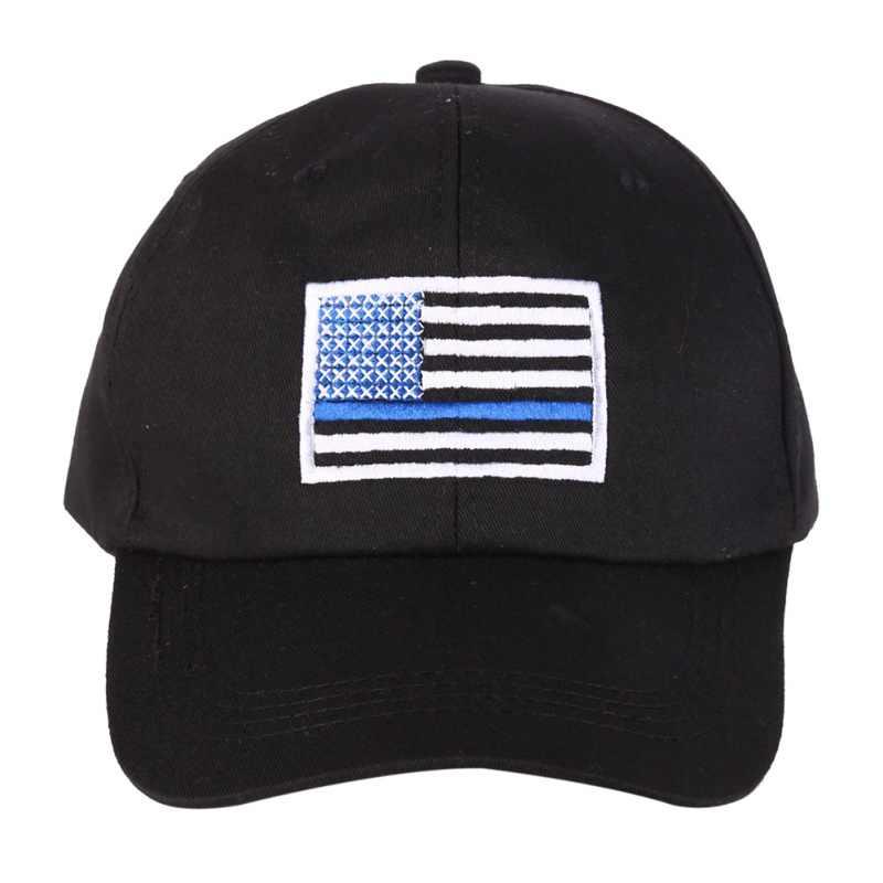 Кепка с вышивкой американского флага для мужчин и женщин тонкая Голубая линия флаг низкопрофильные тактические шляпы для полицейских сил, мужчин t Беговая шапка