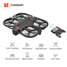 цена Funsnap iDol FPV RC Drone 4K GPS Quadrupter Professional Drone Camera HD 1080P AI Gesture For Xiaomi Youpin 4K Camera Drones онлайн в 2017 году