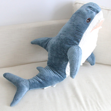 1 Pcs 80/100/140cm Big Size Funny Soft Bite Shark Plush Toy Pillow Appease Cushion Gift for Children Baby Doll Girl Gifts