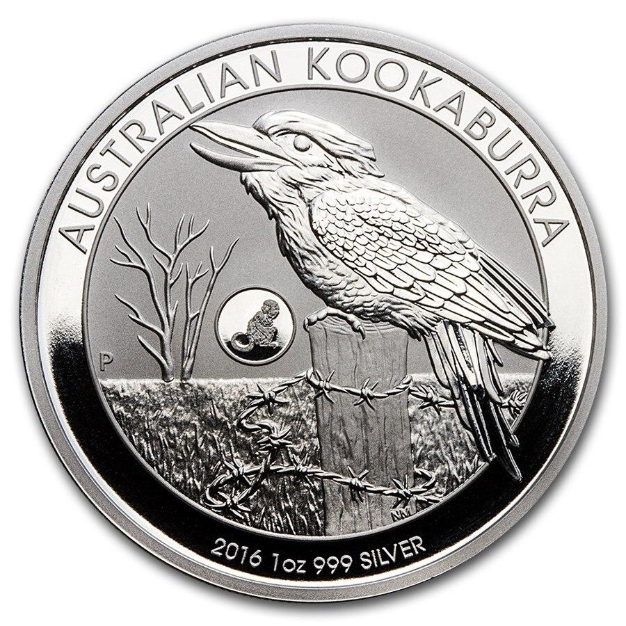 Não-magnético austrália animal moedas de prata kookaburra + coala + aranha + canguru elizabeth lembrança presentes transporte da gota
