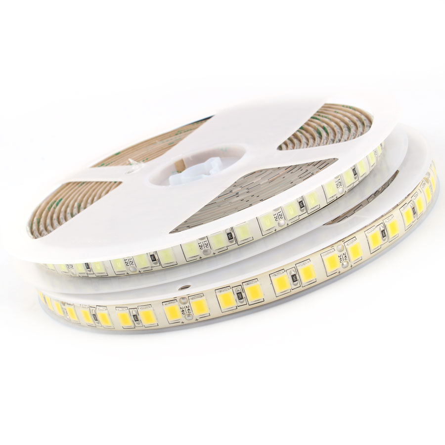 LED Diode Light SMD 5054 LED Strip Light DC 12 V 5M 120Leds/m Flexible Tape Diodes White Waterproof IP65 Leds For TV Backlight