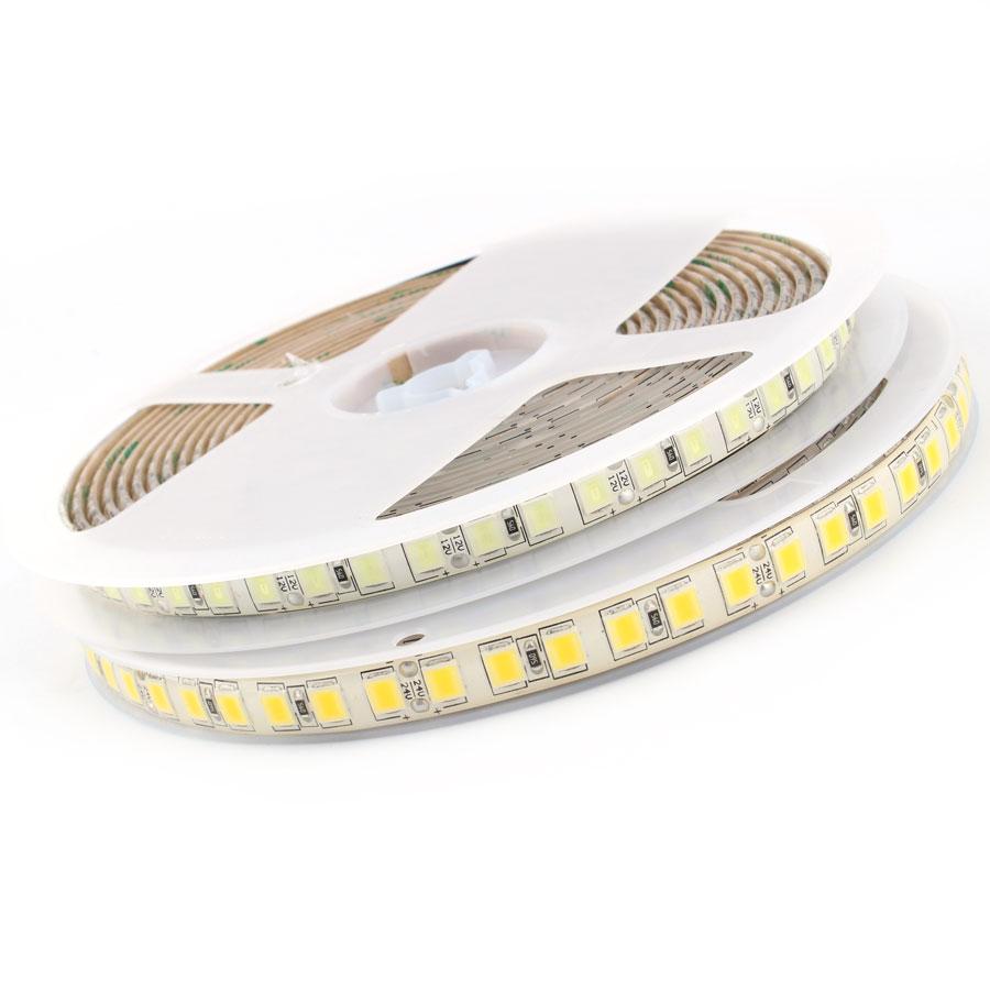 LED Diode Light SMD 5054 LED Strip Light DC 12 V 5M 120Leds/m Flexible Tape Diodes White Waterproof IP65 Leds For TV Backlight