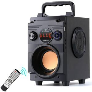 TOPROAD Subwoofer Bass Bluetooth-Speaker Remote-Control Fm-Radio Portable Wireless Column-Support