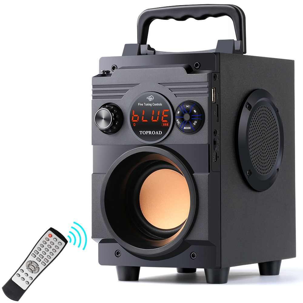 Toproad Bluetooth Speaker 20W Portable Wireless Stereo Subwoofer Bass Speaker Besar Kolom Mendukung FM Radio AUX Remote Control