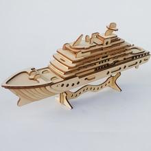Wooden Jigsaw simulation assembled ship model cruise handmade sailing boat DIY wood  yacht 3d model kids toy puzzle for children la salamandre 1752 model ship wood