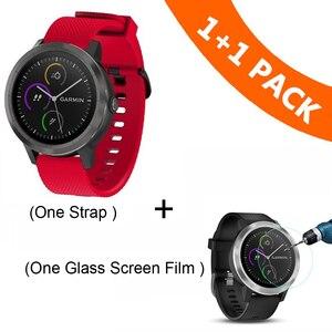 Image 5 - צבעוני 20mm רצועת השעון עבור Garmin Vivoactive3 3 סיליקון צמיד צמיד עבור Vivomove HR רצועת תחליף Vivoactive 3