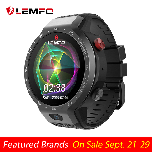LEMFO LEM9 Dual Systems 4G -> Heart Rate -> 5MP Front Camera -> Bluetooth Smart Watch