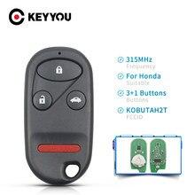 KEYYOU-llave de Control remoto para coche, mando a distancia sin llave, transmisor, 315MHz, 3 botones, KOBUTAH2T, para Honda Accord 1998, 1999, 2000, 2001, 2002