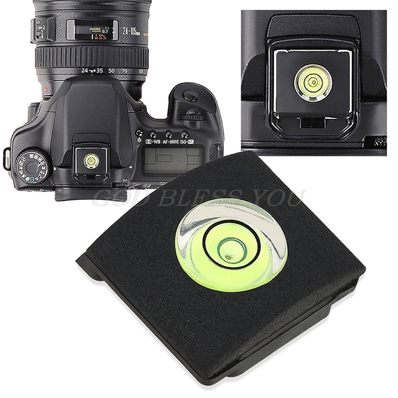 Flash Hot Shoe Cover Cap Bubble Spirit Level For Canon For Nikon Olympus Camera