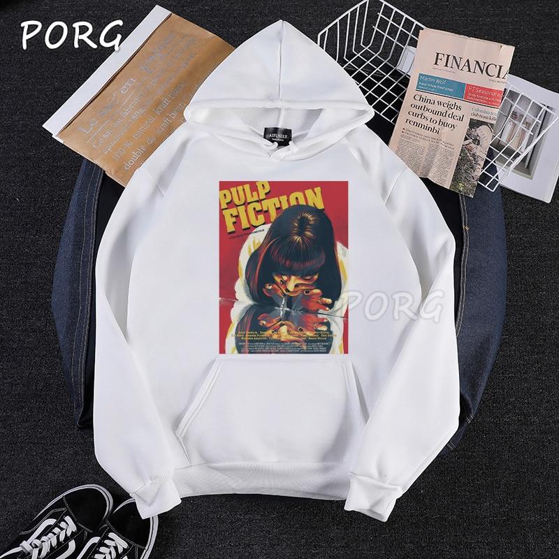 Movie Mia Wallace Pulp Fiction Hoodie Men Women Fashion Winter Quentin Tarantino Harajuku Woman Hoodies Pullover Sweatshirt 2019