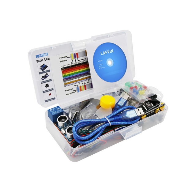 LAFVIN Basic Starter Kit include Ultrasonic Sensor,Jumper Wire for Arduino for UNO with Tutorial