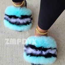 Snug Slippers Sandals Fluffy-Shoes Slides Plush-Fur Ladies Casual Travel Big Amazing