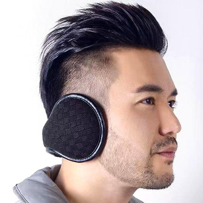 Warm Earmuff Men Women Kitted Ear Muffs Plush Adjustable Winter Headband For Sport Cycling Riding JL