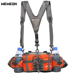 Professional Outdoor Wandern Taille Pack Radfahren Taille Tasche Rucksack 11 farben Bergsteigen Tasche Multifunktions 6 Wasser Flasche 800D