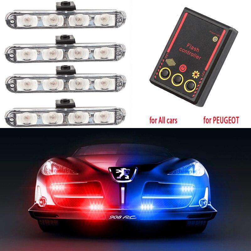 Strobe Lights Stroboscopes Fso Auto Flash 4x4 LED Police Lights Stroboscope Police Light Police Flasher Strobe Light Fso Flash