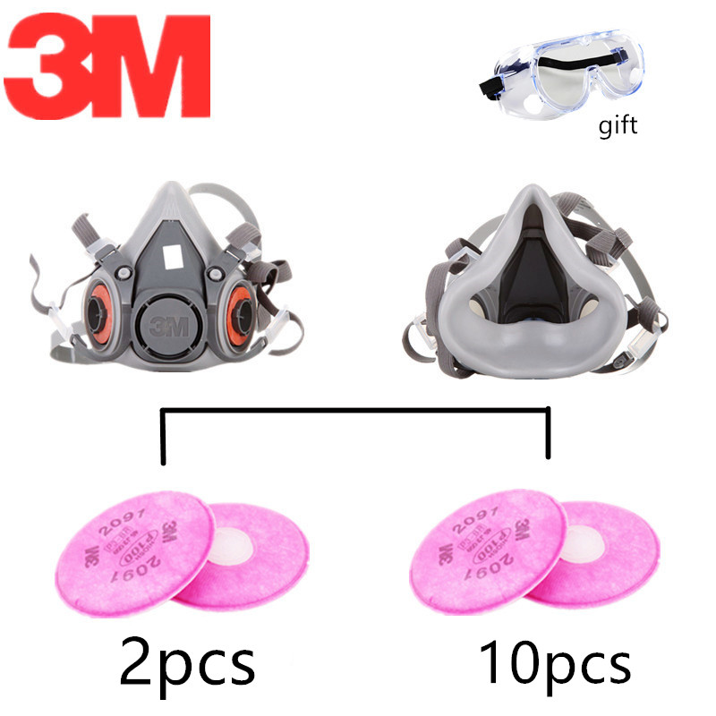 NO STOCK~DO NOT PAY~Thanks~3M 6200 2091 Dust Mask Spraying Weld Double Activated Filters Industrial Dust-proof Cool-flow Valves