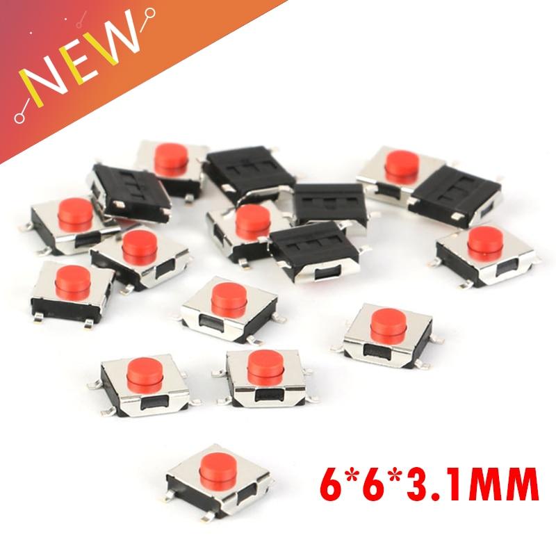 sourcingmap 10pcs de 4 pines Micro Interruptor T/áctil moment/áneo de Tacto de PCB de 12 x 12 x 13mm