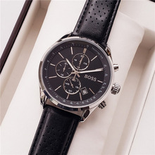 BOSS Watch Men 44MM Luxury Brand Sport Casual Mens Wrist with Leather - 1513475
