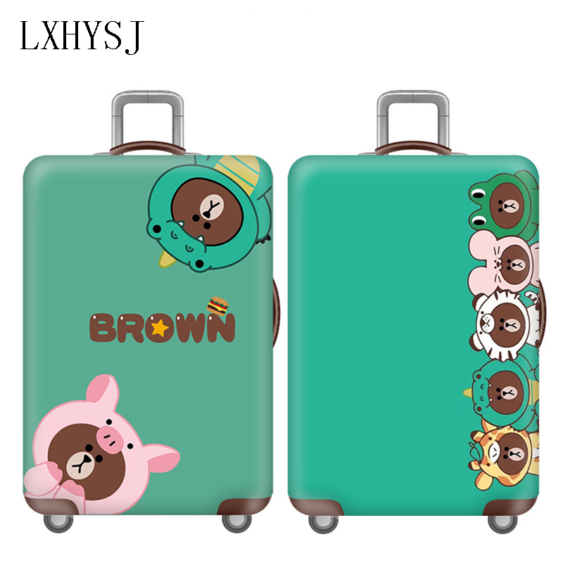 Animal Pattern Luggage Protective Covers Elasticity Travel Suitcase Dust Cover For 18-32 Inch Suitcase Case Travel Accessories