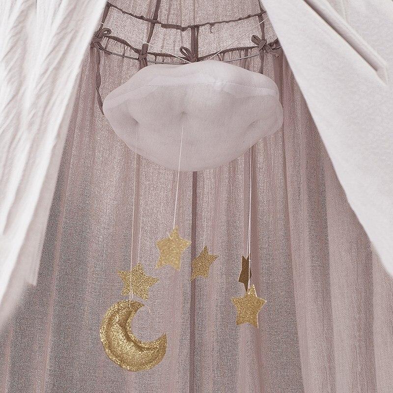 Новинка Колокольчик для детской кроватки мультяшное облако украшение в детскую комнату хлопок дети висячие украшения украшение для детской спальни Комплект постельного белья для малышей