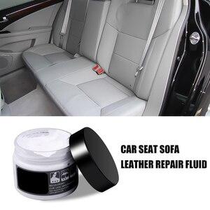 Image 3 - ビニールシート車の革修理キットクリーナー穴スクラッチ亀裂修復ツールリッピング変色クリームセットのための服