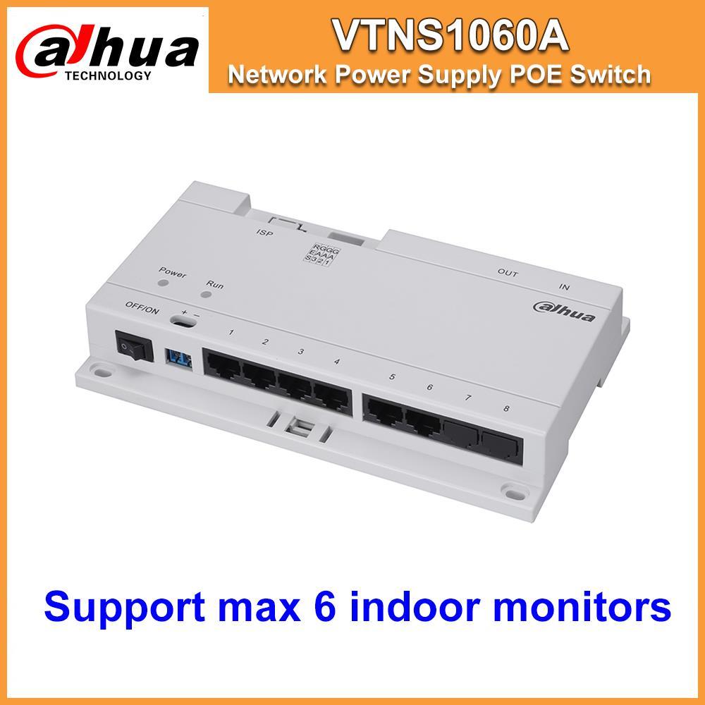 Liquidación Dahua original VTNS1060A Video intercomunicador conmutador POE para sistema IP VTO2000A conectar Max 6 monitores de interior