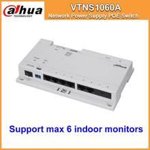 Klaring Dahua Originele VTNS1060A Video Intercom Poe Switch Voor Ip Systeem VTO2000A Verbinding Max 6 Indoor Monitoren