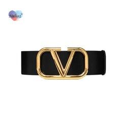 Nuleez fashion belt women V goden copper letter wide 7cm cummerbunds white red European style for dress accessory