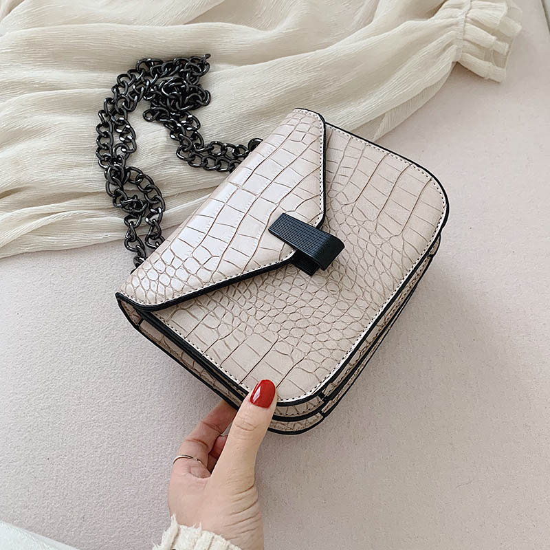 Stone Pattern PU Leather Shoulder Messenger Bags For Women 2020 Fashion Mini Crossbody Bag Female Chain Handbags And Purses