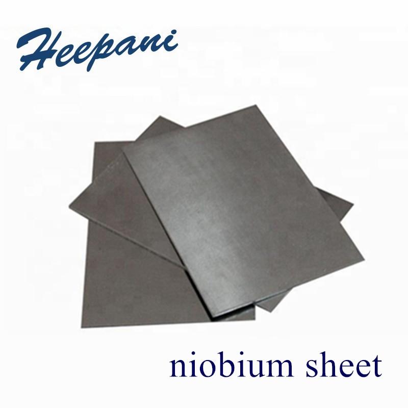 Free Shipping 99.95% Purity Nb Niobium Plate 0.1x100x100mm - 5x100x100mm Niobium Sheet Pure Foil For Semiconductor